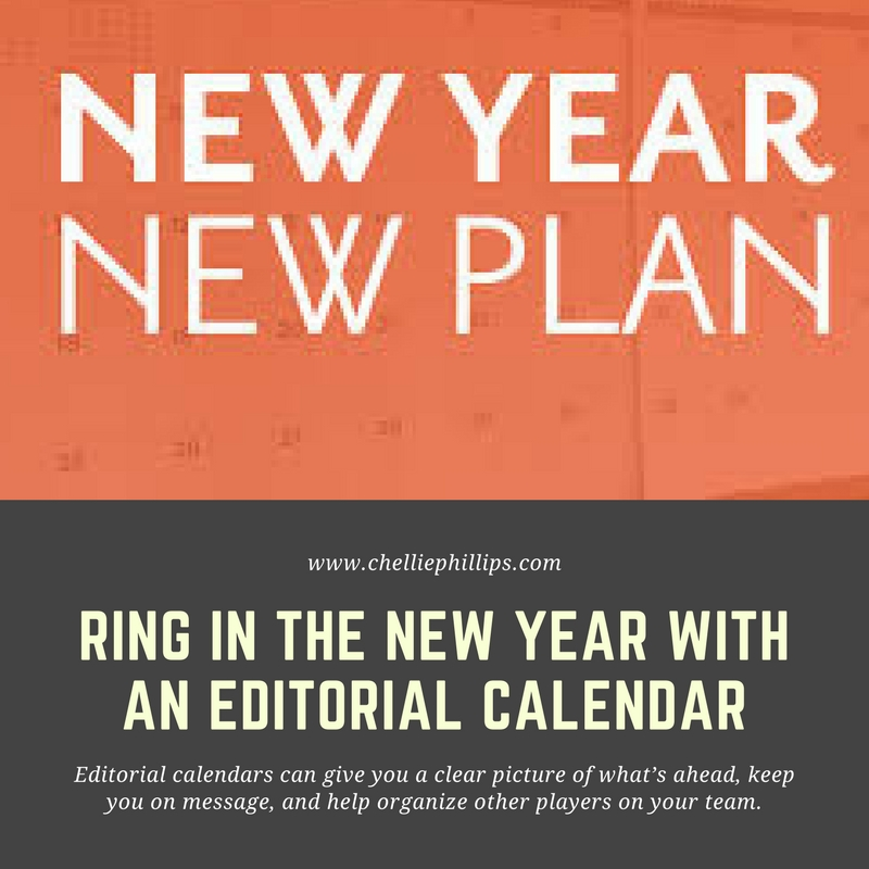 New Year – New Plan: Try an editorial calendar
