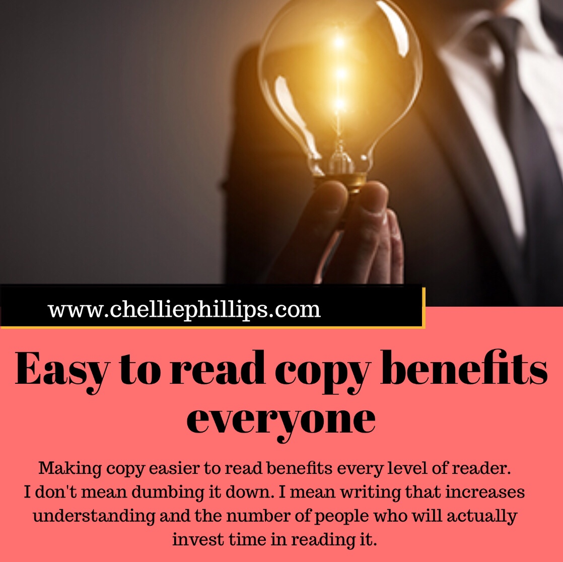 Easy to read copy benefits everyone
