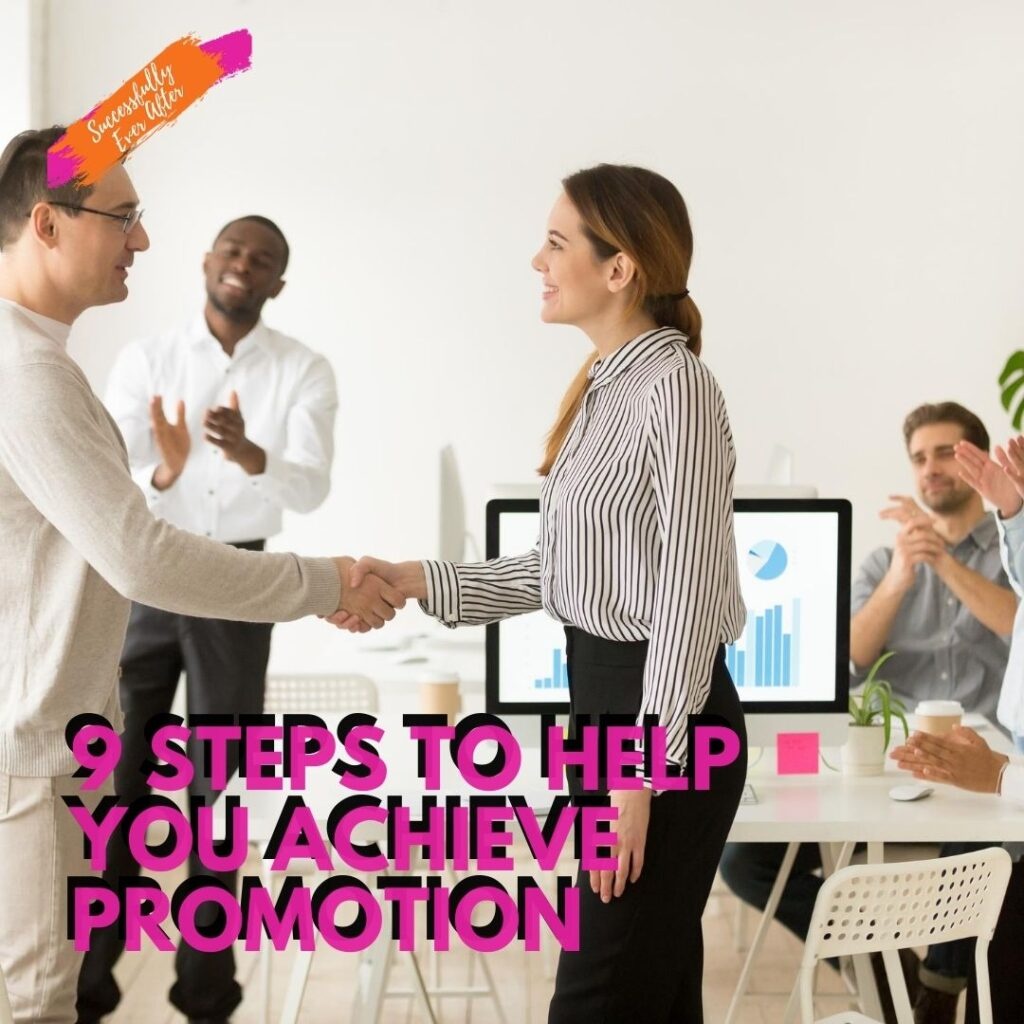 woman receiving a promotion at work