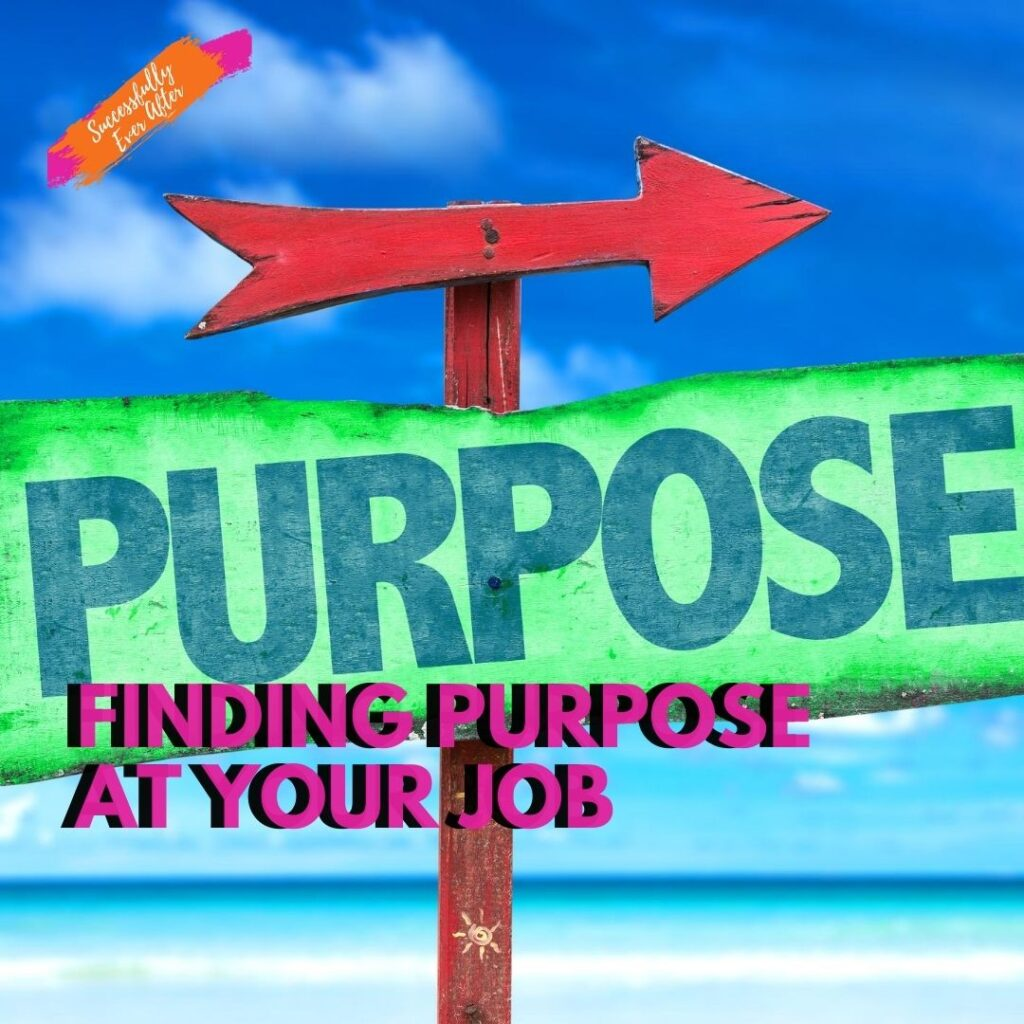 sign with arrow pointing toward purpose