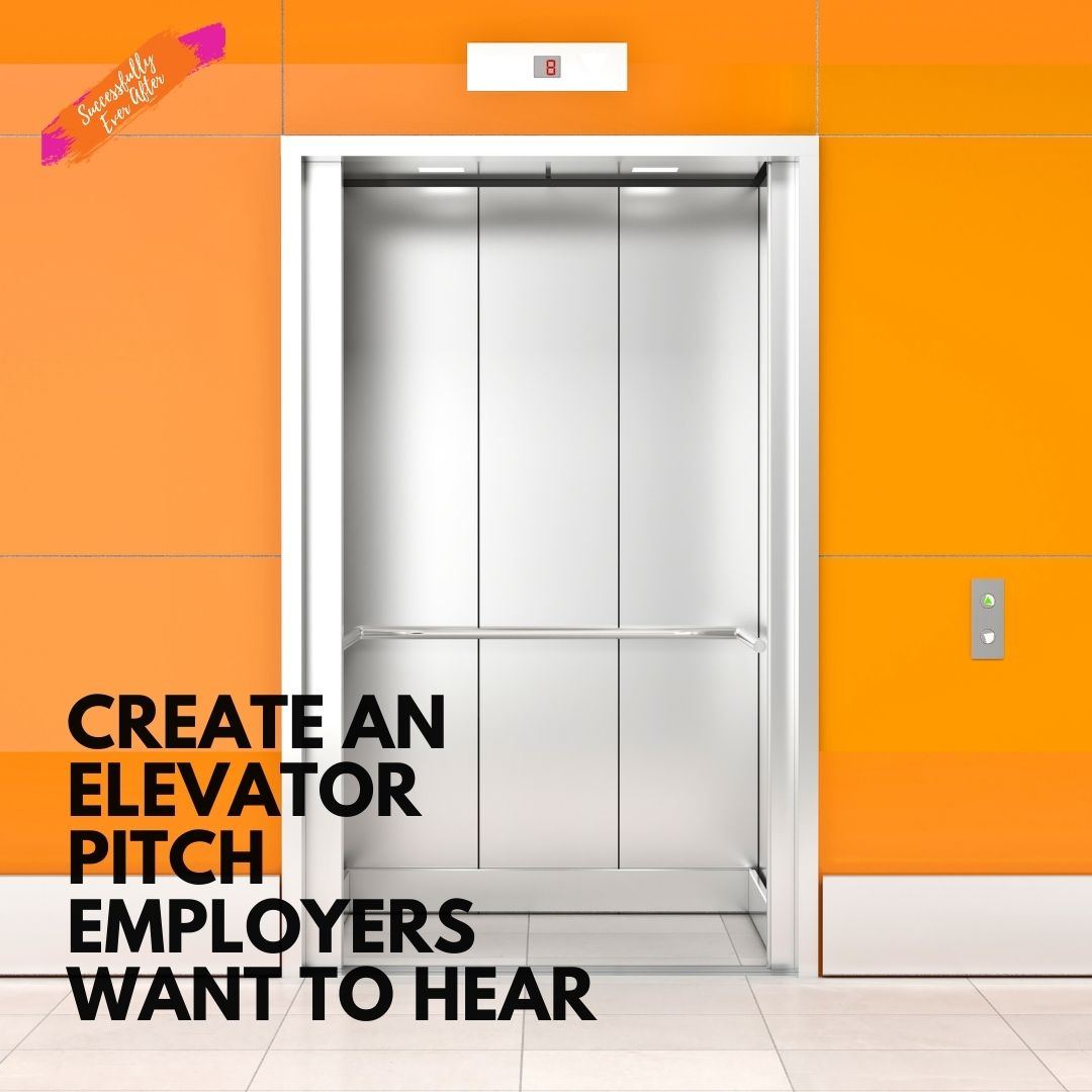 elevator on orange wall symbolizing the elevator pitch
