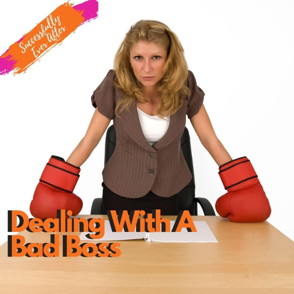 Woman with boxing gloves leaning on a table